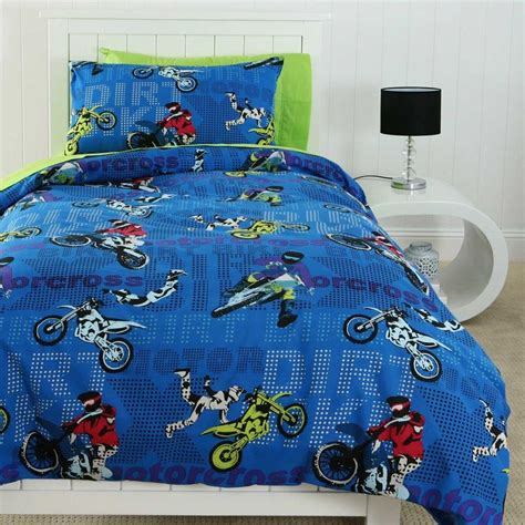 dirt bike bed set motocross single bedding michael room motocross bedroom