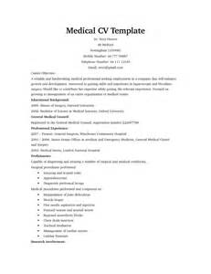 1 Curriculum Vitae Template by Medical Cv Templates Medical Assistant Resume Templates