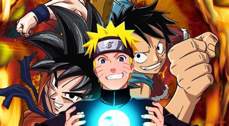 imagenes de goku luffy y naruto dragon ball one piece o naruto taringa
