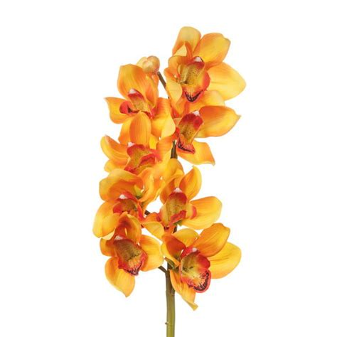 artificial cymbidium spray orchid dark yellow