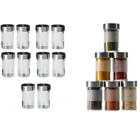 Glass Spice Jars 10 X Ikea Spice Jar Droppar Glass Stainless Steel Spice