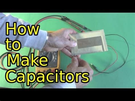 how a capacitor is made how to make capacitors low voltage diy capacitors