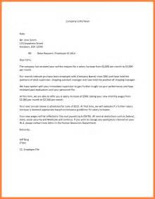 Raise Letter To Employee Template 6 Salary Increase Justification Letter Salary Slip