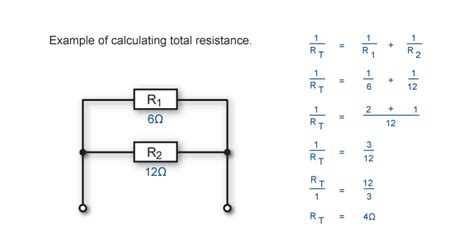 formula for resistors in parallel circuits electrotech text alternative
