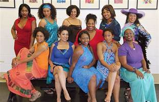 cast of for colored performance preview rainbow studio theater company