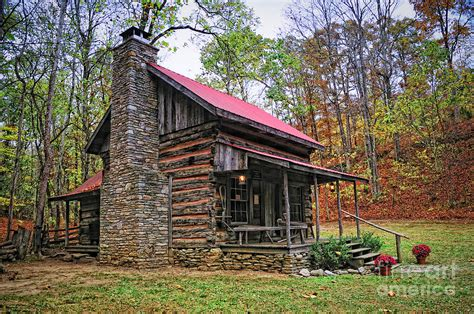 Kentucky Log Cabins by Log Home Renfro Valley Ky Photograph By Kitzman
