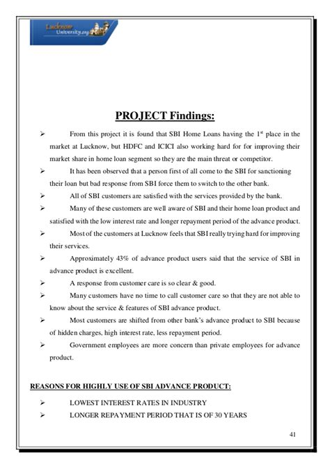 sle business project report for bank loan housing loan project report 28 images status of home