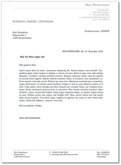 Vorlagen Musterbrief vorlagen f 252 r briefe und rechnung meinnoteblog s