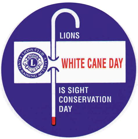 Word Blindness White Cane Day Enterprise Lions Club