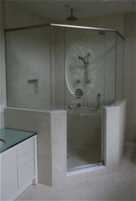 frameless neo angled shower with header rail artistcraftcom