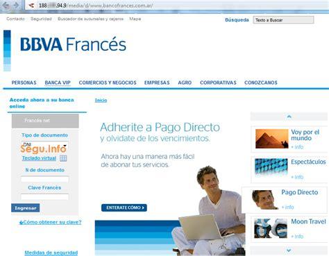 homebanking banco francs frances net phishing a banco franc 233 s hace uso de quot t 233 cnica novedosa