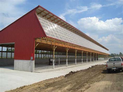 monoslope cattle barns cattle barn plans  designs