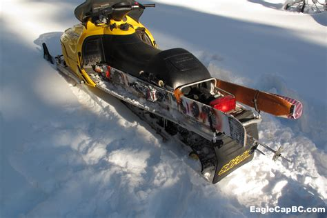 Snowboard Rack For Snowmobile by Snowmobile Ski Carry Eagle Cap Backcountry