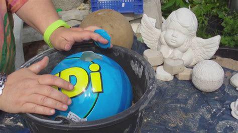 beton giessen diy betonkugel im ball verbesserte