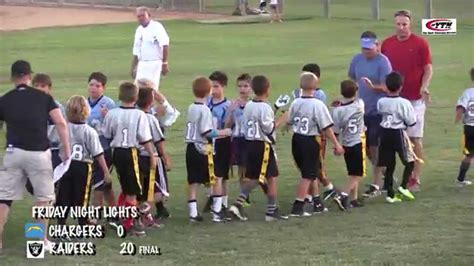 friday lights flag football quot friday lights quot flag football chargers raiders