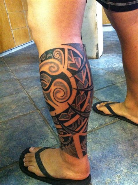hawaiian leg tattoo designs polynesian new ideas