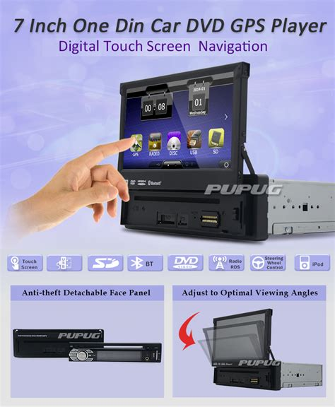 Din Car Multimedia Player Touch Screen 65 Inch Built In Bt eincar 7 inch single din gps car dvd player vision bluetooth car stereo receiver