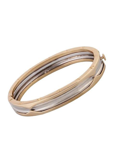 Bulgari 14k White & Yellow Gold Bracelet B.Zero1 Bangle