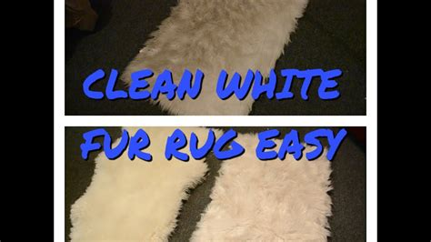 how to clean a white rug at home clean white faux fur rug easy