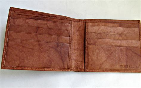light brown leather wallet genuine leather mens bifold wallet light brown new wallets