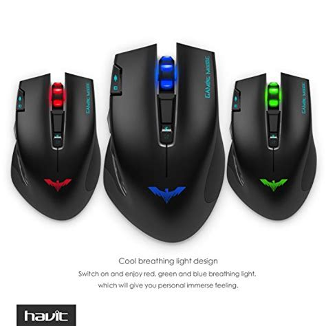 Mouse Havit havit ergonomic wireless mouse 2 4ghz optical vertical mouse with 3 adjustable dpi 800 1200