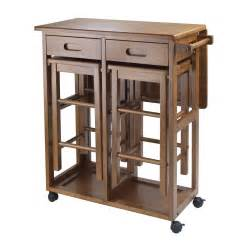 Kitchen Table Space Saver Winsome Space Saver 3 Small Table With 2 Nesting Stools Dining Table Sets At Hayneedle