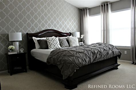 monochromatic master bedroom
