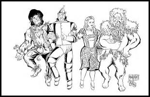 wizard of oz coloring pages wizard of oz by pradoinkworks on deviantart