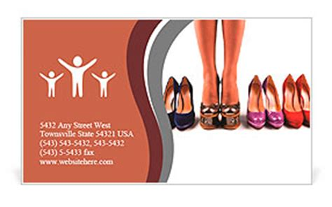 a leg card template multicolored shoes and legs on a white background business