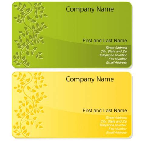 free name card design template sle business card templates free printable