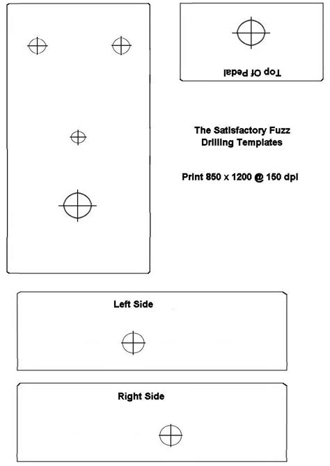 drill hole template image collections templates design ideas