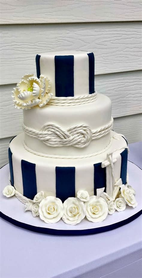 15 nautical rope wedding cakes diy weddings magazine