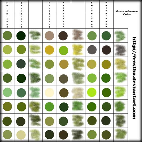 what color is grass grass color reference by frostbo on deviantart