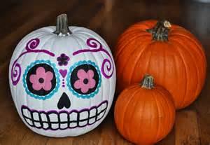 painted pumpkins artelexia day of the dead diy 18 sugar skull pumpkins