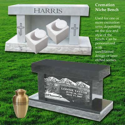 memorial benches for ashes monuments and memorials after cremation options