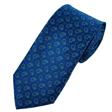 blue patterned ties metallic royal blue ice blue paisley patterned tie from