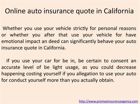 auto insurance quotes  california powerpoint