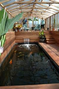 Indoor Pond Cool Indoor Koi Pond Garden Outside Pinterest