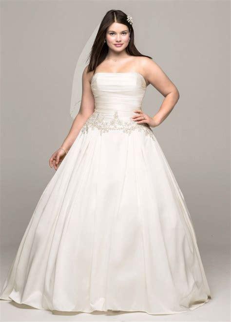 Mikado Plus Size Wedding Dress with Beaded Waist Style