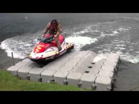 boat lifts for sale uk aqua dock pontoons jet ski drive on dock uk youtube