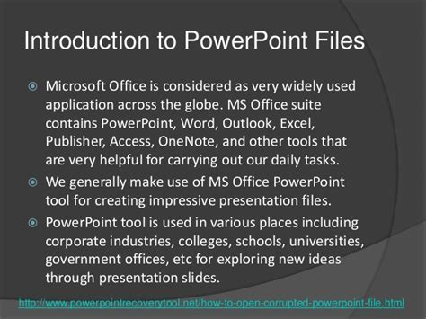 fix your corrupted powerpoint presentation file in few clicks simple guidelines for fixing corrupt powerpoint files