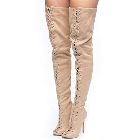 piarry style suede thigh high boot on storenvy