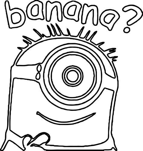 banana coloring page free printable coloring pages minion banana question coloring page wecoloringpage