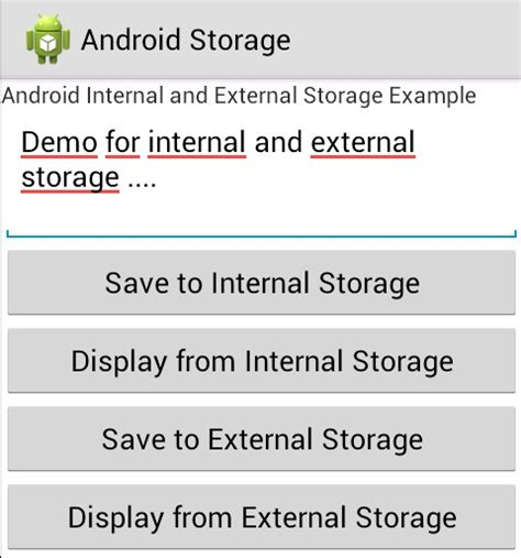 android write to file android and external storage exle store and retrieve data