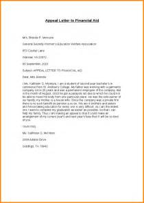 Appeal Letter To Fema 6 Financial Aid Appeal Letter Template Nypd Resume