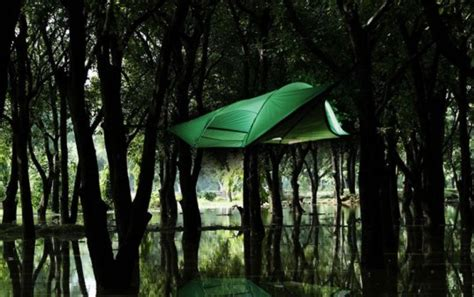 tentsile s new stingray hanging tent lets you sleep