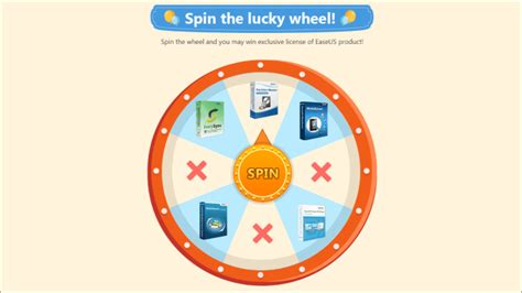 Giveaway Wheel - easeus giveaway win paid products for free in seconds