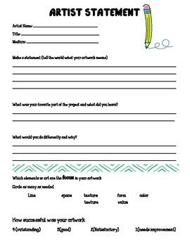 artist biography questions worksheets for elementary wiildcreative