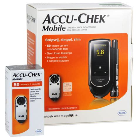 accucheck mobile accu chek mobile meter 50 teststrips medische