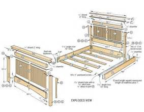 Bed Frame Wood Plans Pdf Wood Bed Frame Plans Design Wooden Plans How To And
